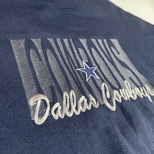 Dallas Cowboys Embroidered Crewneck XL