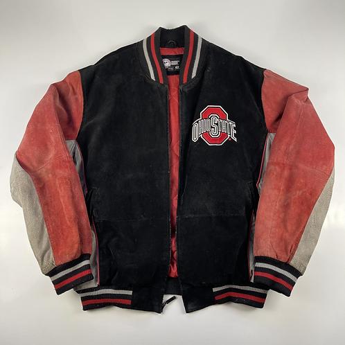 Ohio State Collegiate Suede Varsity Jacket - L
