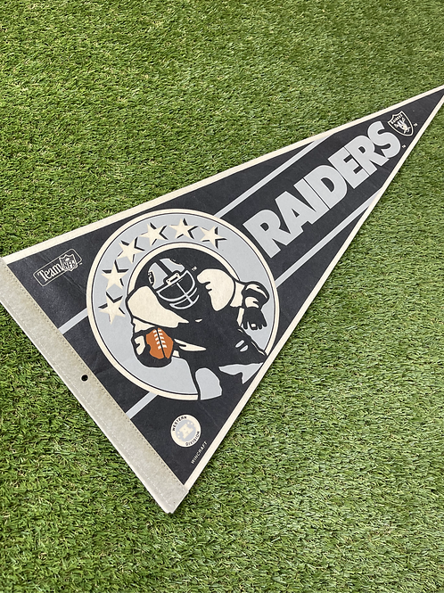 Vintage NFL Raiders Felt Pennant