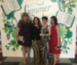 Bestselling Harper Collins authors Carmel Harrington, Anouska Knight, Hazel Gaynor and Fionnuala Kearney at The V&A Museum