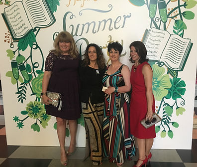 Bestselling Harper Collins authors Carmel Harrington, Anouska Knight, Hazel Gaynor and Fionnuala Kearney at The V&A Museum