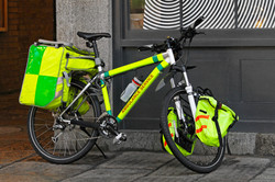 Ambulance bicycle for emergency service