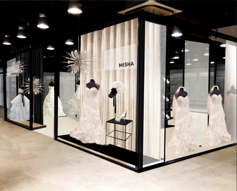 Bridal Boutique Display Window