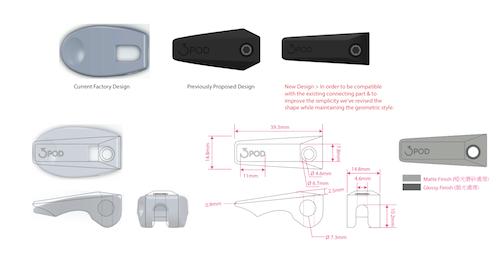 3POD Tripod Flip Cap Design