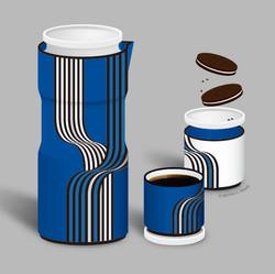 Illusion Blue Tea Set