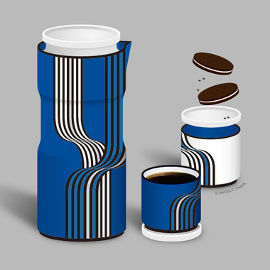 ILLUSION BLUE TEA SET