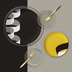 Illusion Yellow Dinnerware