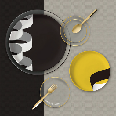 ILLUSION YELLOW DINNERWARE