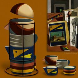 De Chirico Stacking Mugs