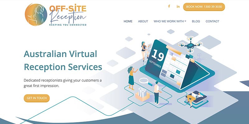 Off-Site Reception website