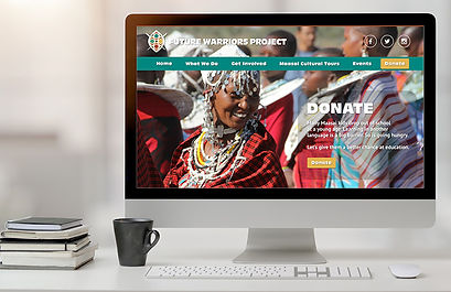 Future Warriors Project website home page