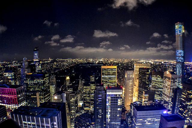 Rockefeler view at night