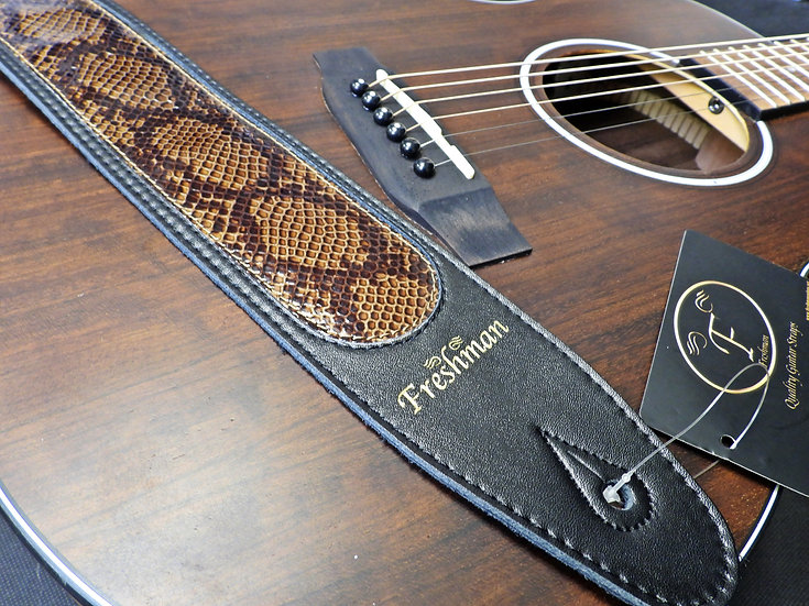 FSLSNAKEBK - Black - Snake Inlay Strap