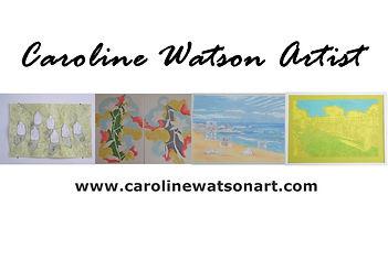 Caroline Watson Artist banner with websi