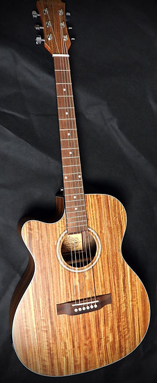 FALTDWALOCLH - All Walnut OM/Folk Left Handed Electro-Acoustic