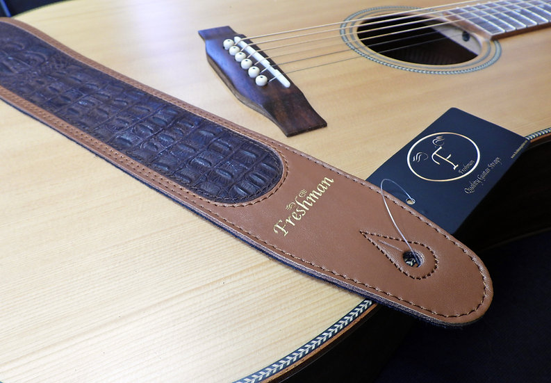 FSLCROCTAN - Tan Leather With Croc Inlay