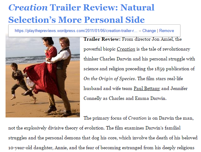 Creation Trailer Review