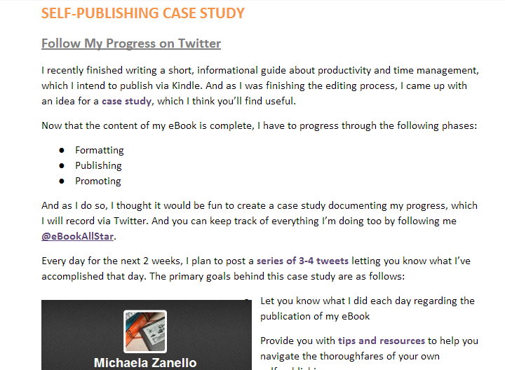 Twitter Self-Publishing Case Study