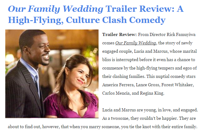 Our Family Wedding Trailer Review