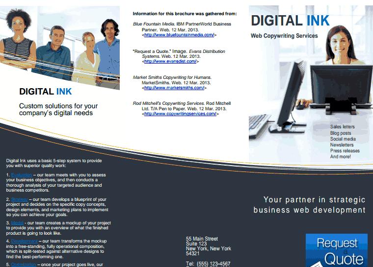Digital Ink Brochure
