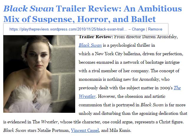 Black Swan Trailer Review