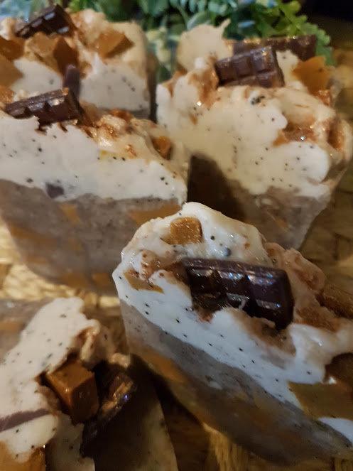 Jabones Naturales fragancia de chocolate y Café