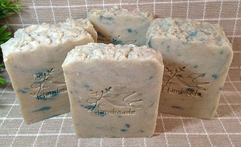Natural Hot Process Soap, Aloe Vera, Bar of Soap.