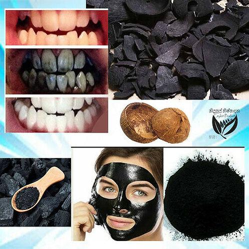 Carbón vegetal 100% Cáscara de coco de calidad natural, Carbón activado en polvo