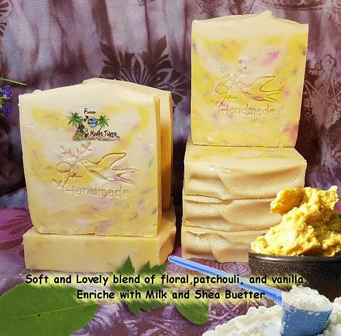 Jabones Naturales #1 Baby love #2 Cherry Blossom /Rice Milk moisturizing Soap.