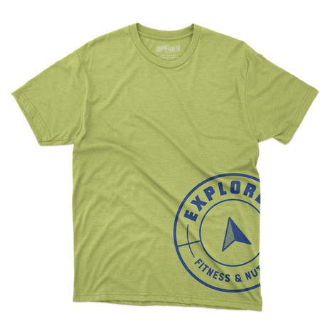 explore - circle logo shirt - mock green