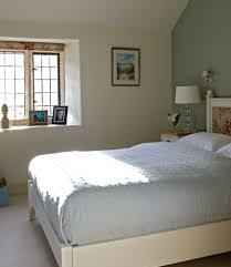 Bedroom with feature wall.