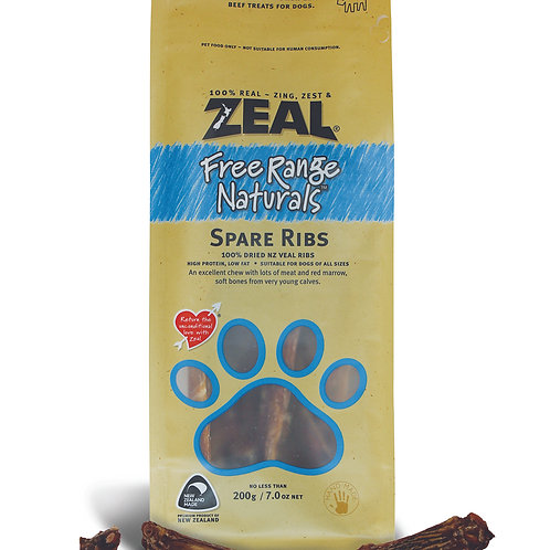 Zeal Treats for Dogs-Spare Ribs 200g
