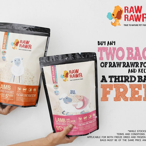 Buy 2 get 1 Free: Raw Rawr Frozen Chicken Raw Diet (12 x100g)