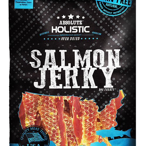 Absolute Holistic - Salmon Steak Jerky Dog Treats 100g