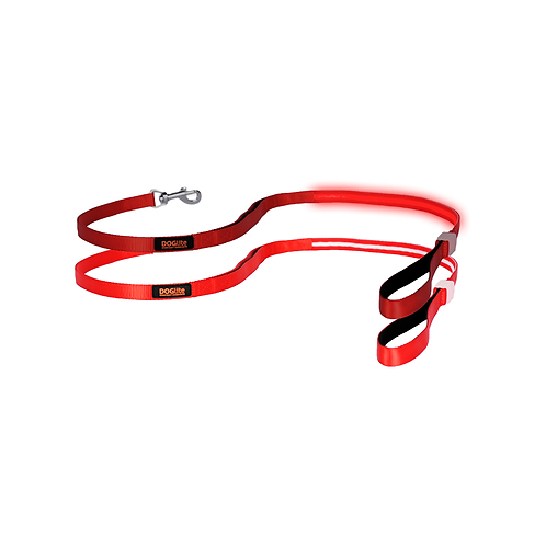 DOGlite LED Leash Red Nite Small (120cm) with Dual Control Handle
