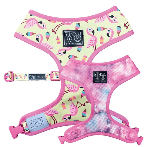 Big & Little Dogs Reversible Harness-Flamingle