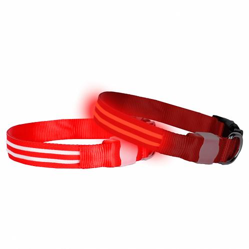 DOGlite LED Collar Medium (38-50cm) Red Nite