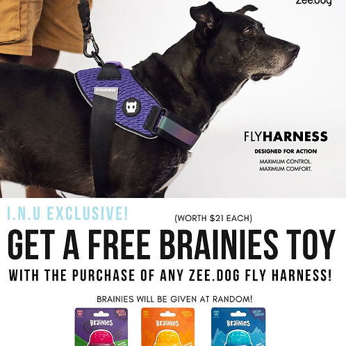 Free Brainies Toy: Zee.Dog Fly Harness: Gotham (5 sizes)
