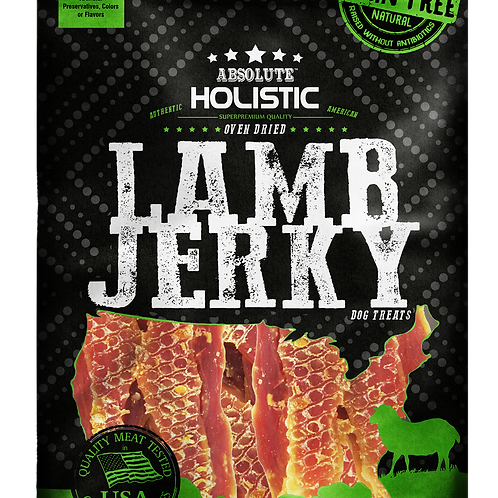 Absolute Holistic - Lamb Steak Jerky Dog Treats 100g