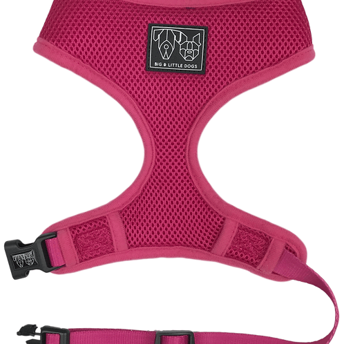 Big & Little Dogs Classic Harness-Pink