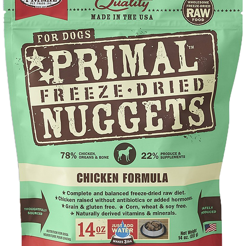 Primal Freeze Dried Nuggets 14oz - Chicken Formula (2 for $88; 4 for $159.90)