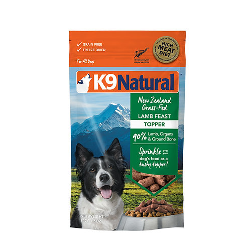 K9 Natural Freeze Dried - Lamb Feast Topper 142g