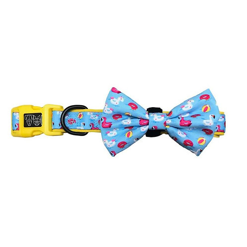 Big & Little Dogs Collar & Bow Tie-Pool Party