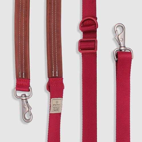 Sputnik: Multi-Function Dog Leash (Red)