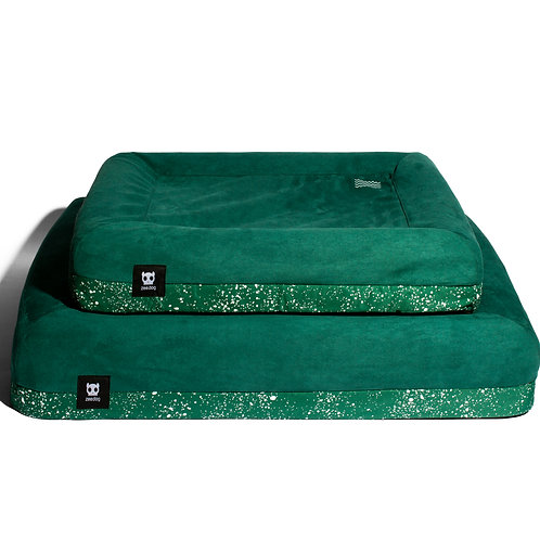 Zee.Dog Bed Cover (Green) - L Size