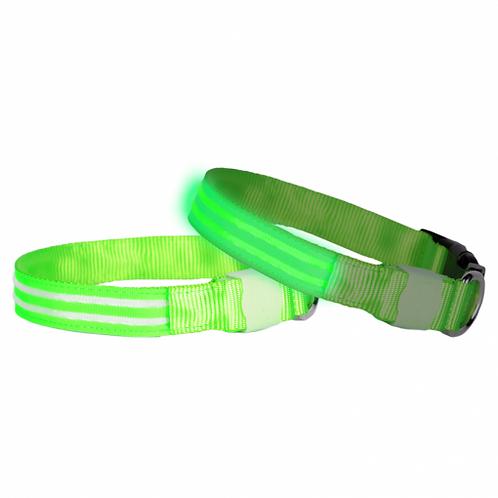 DOGlite LED Collar Medium (38-50cm) Green Glow