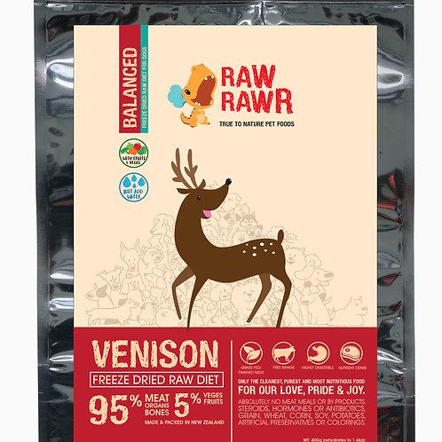 Raw Rawr Venison Balanced Freeze Dried Raw Diet