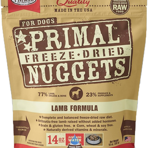 Primal Freeze Dried Nuggets 14oz - Lamb Formula (2 for $88; 4 for $159.90)