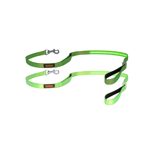 DOGlite LED Leash Green Glow Small (120cm) with Dual Control Handle