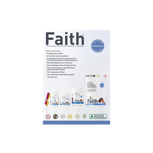 Augustine's Faith (Comes with 1 set Free Measurement Spoons) (4 Sizes)